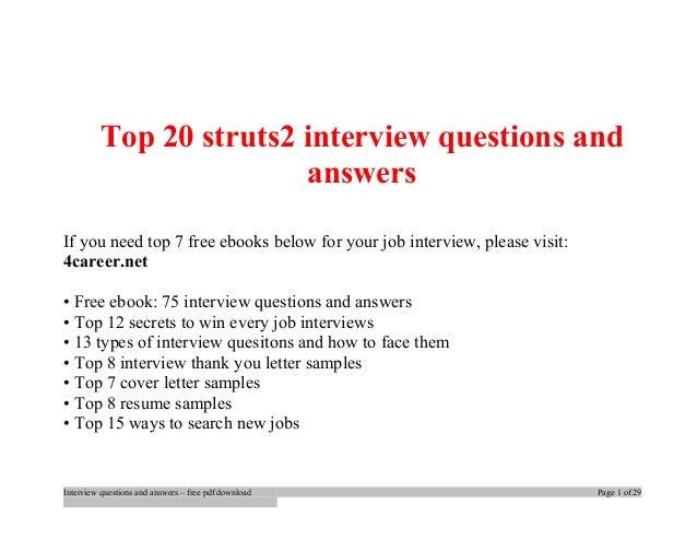 Questions pdf interview struts2