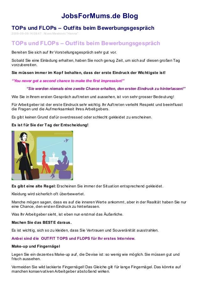 """JobsForMums.de Blog TOPs und FLOPs – Outfits beim Bewerbungsgespräch 2009-09-09 14:09:47 Nives Mestrovic """"Hanna"""" TOPs und ..."""