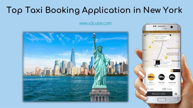 Top Taxi Booking Application in New York www.v3cube.com
