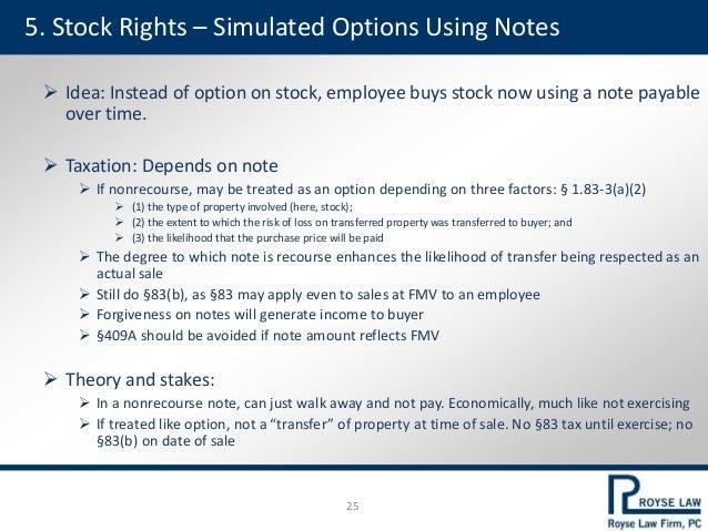 Stock options amt credit