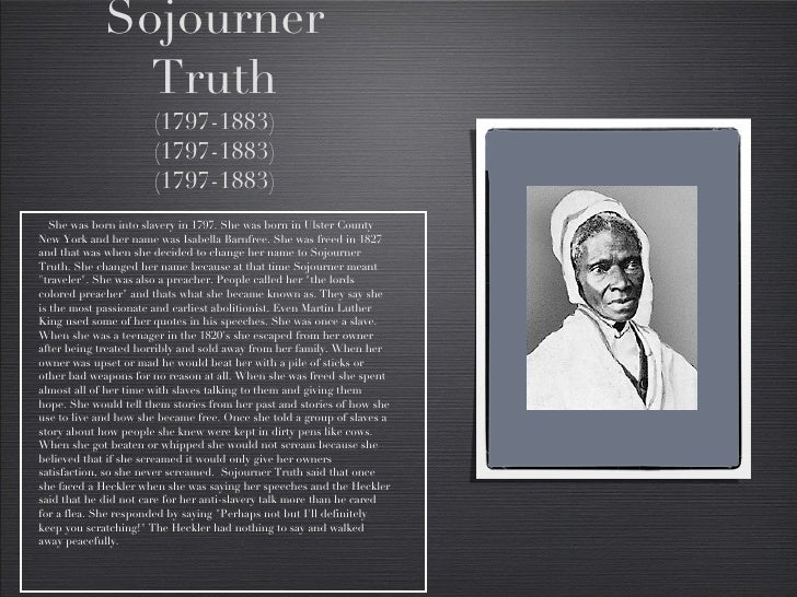 sojourner truth research essay