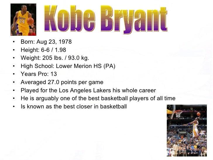 <ul><li>Born: Aug 23, 1978  </li></ul><ul><li>Height: 6-6/1.98  </li></ul><ul><li>Weight: 205 lbs./93.0 kg.  </li></ul...