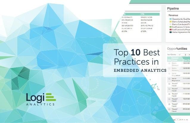 Top 10 Best Practices in embedded analytics