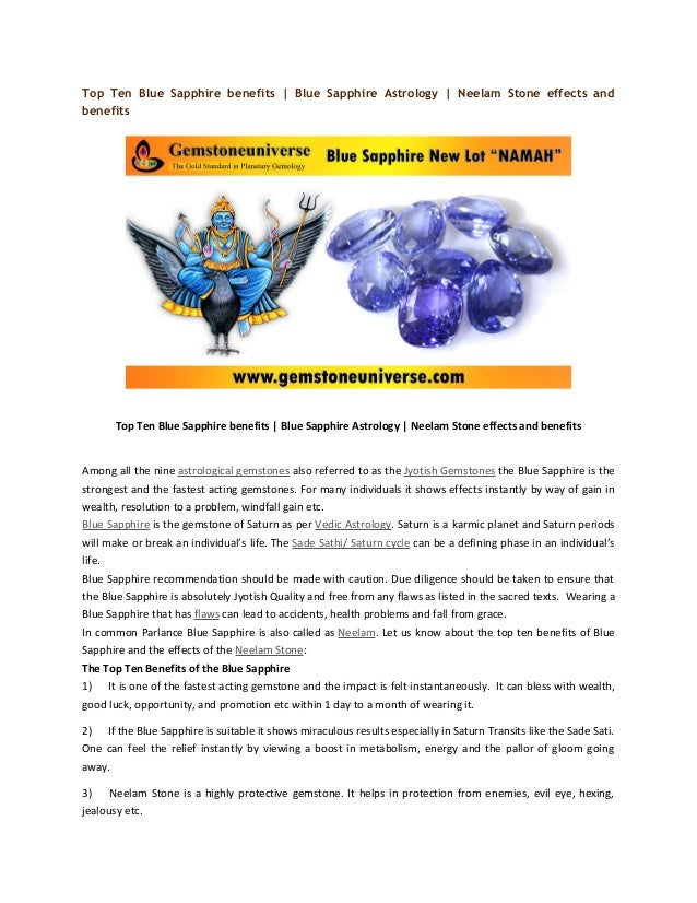 Top ten blue sapphire benefits | blue sapphire astrology ...