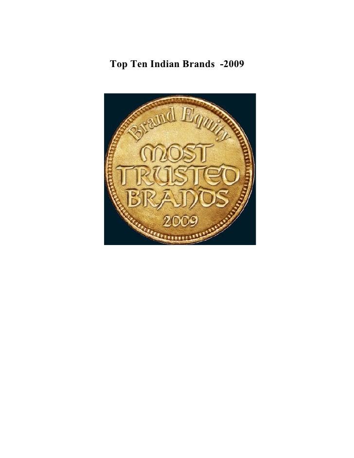 Top Ten Indian Brands -2009