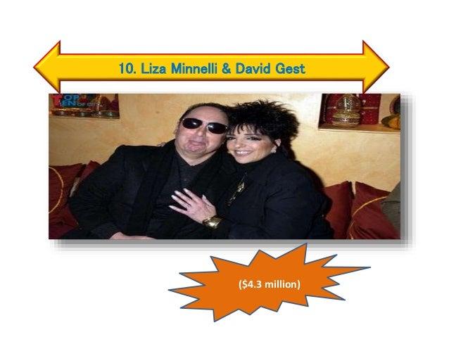 10. Liza Minnelli & David Gest ($4.3 million)