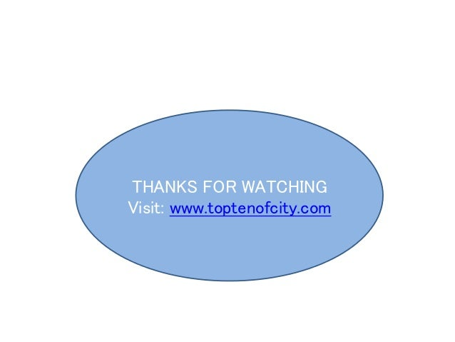 THANKS FOR WATCHING Visit: www.toptenofcity.com