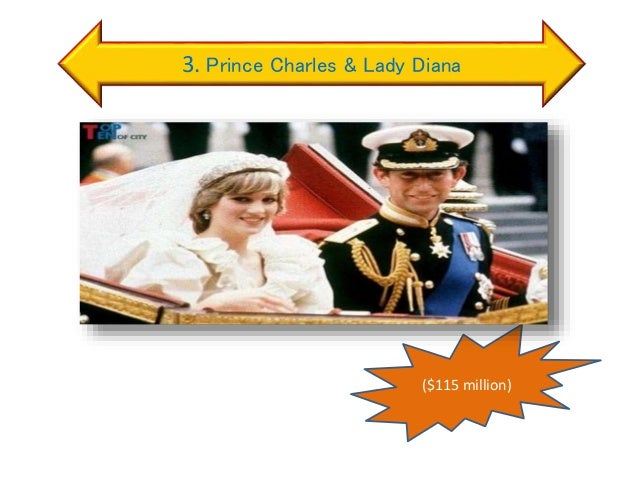 3. Prince Charles & Lady Diana ($115 million)