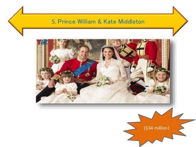 5. Prince William & Kate Middleton ($34 million)