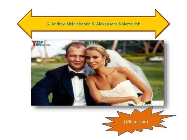 6. Andrey Melnichenko & Aleksandra Kokotovich ($30 million)