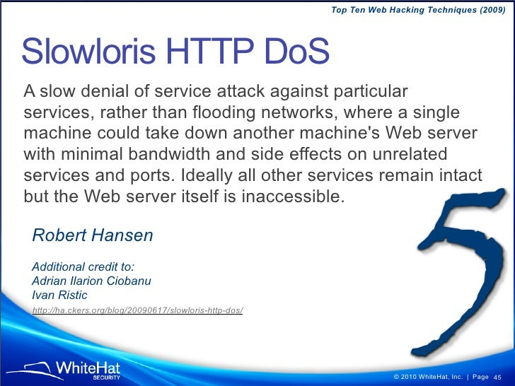"""Top Ten Web Hacking Techniques (2009)  Browser Login Detection Hosted on attacker.com...  <img src=""""target.com"""" onload=""""ti..."""