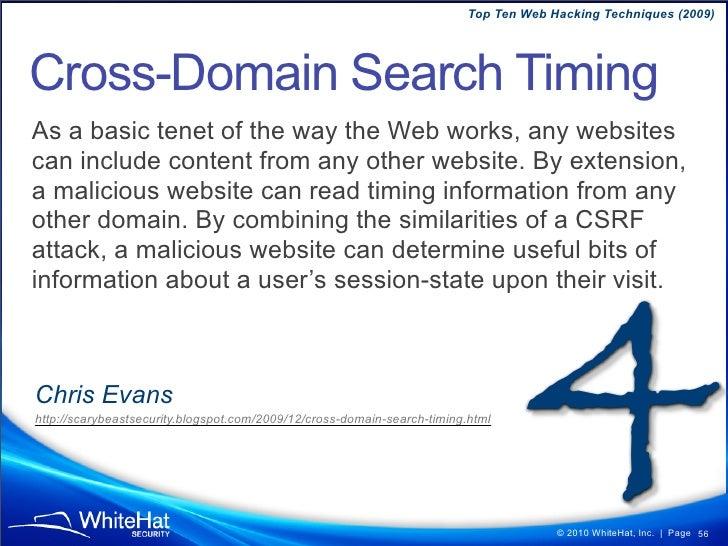 Top Ten Web Hacking Techniques (2009)  What can HPP do? • Bypass Input Validation • Bypass Web Application Firewalls • Man...