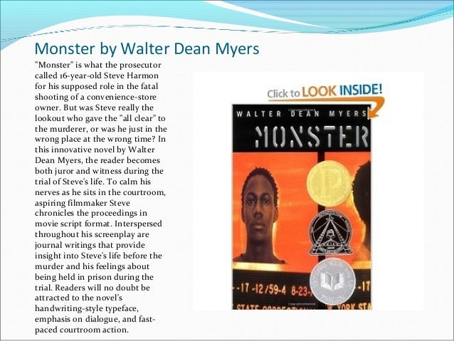Monster walter dean myers summary