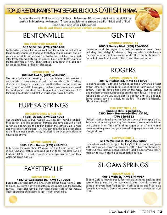 The Best of Northwest Arkansas, Top 10 Issue 1
