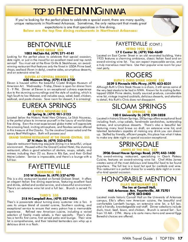 The Best Of Northwest Arkansas Top 10 Issue 1