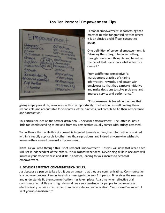 empowerment perspective definition