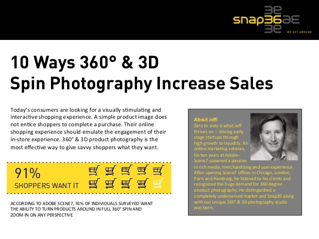 10 Ways 360° & 3D  Spin Photography Increase Sales  Today's  consumers  are  looking  for  a  visually  s5mula5ng  and  in...
