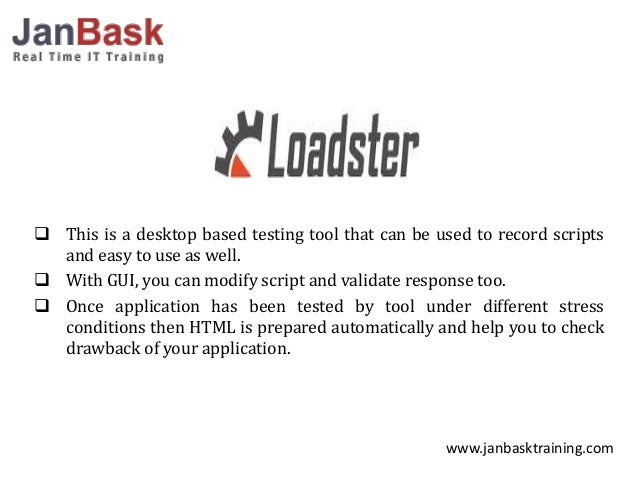 different software testing tools