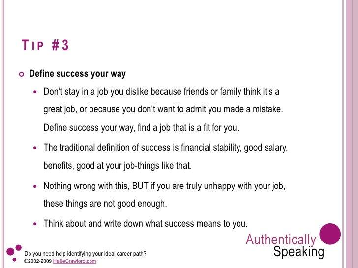 define success in your career top ten tips to identifying your ideal career define success in your career