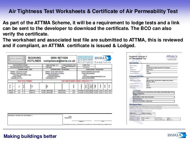 Top ten tips for air tightness compliance