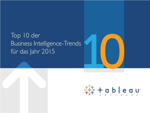 Top 10 der Business Intelligence-Trends für das Jahr 2015