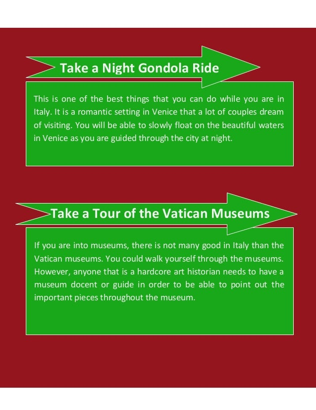 Top things to do in italy do while vacationing in italy 2 solutioingenieria Choice Image