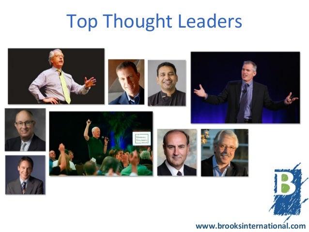 Top Thought Leaders             www.brooksinternational.com