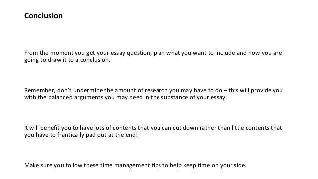 good time management essay