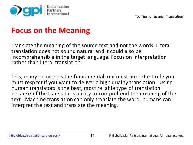 Top Tips for Spanish Translation