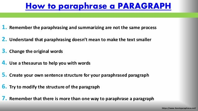Top tips on how to paraphrase