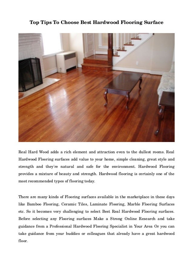 Top Tips To Choose Best Hardwood Flooring Surface