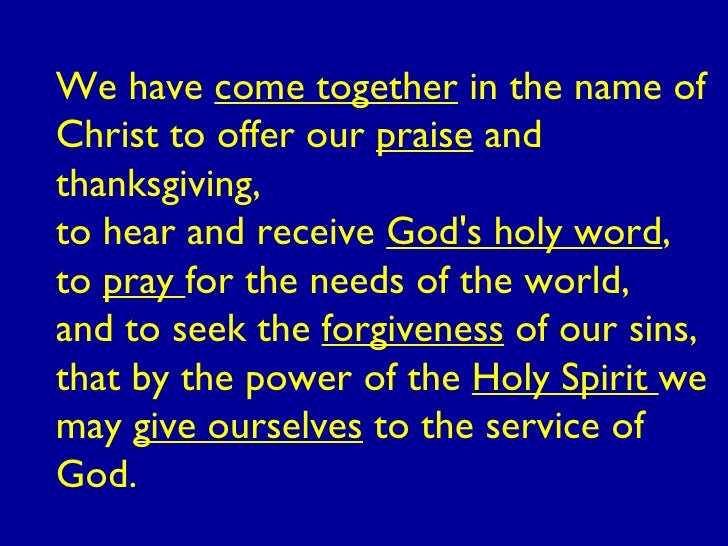 Sunday service prayer sample.