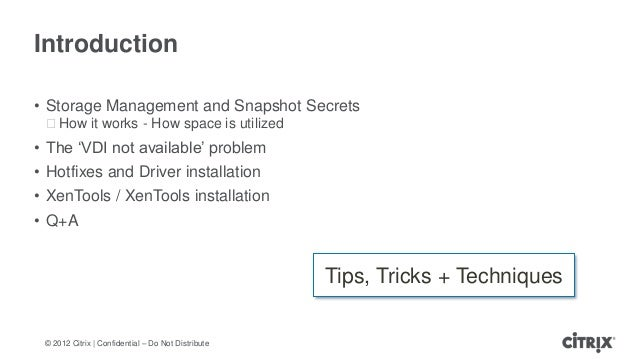 Top Troubleshooting Tips and Techniques for Citrix XenServer Deployments Slide 2