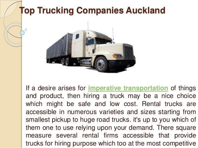 Trucking Companies Auckland