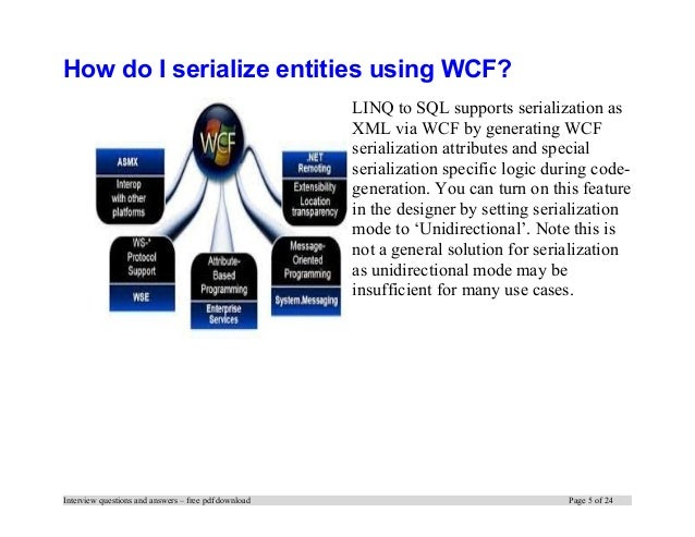 For questions pdf answers interview and wcf experienced