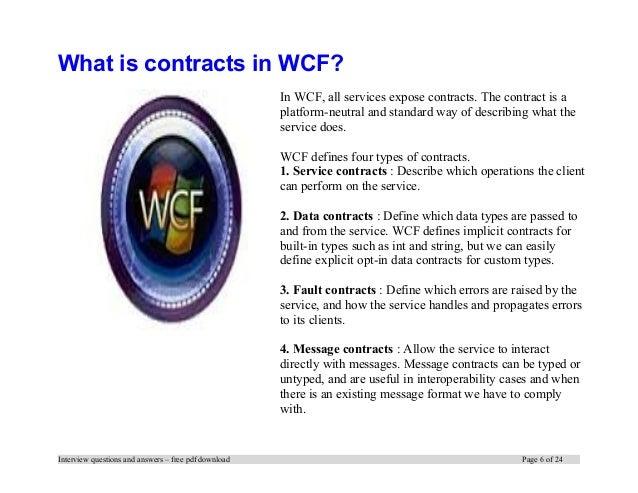 Wcf Interview Questions Pdf