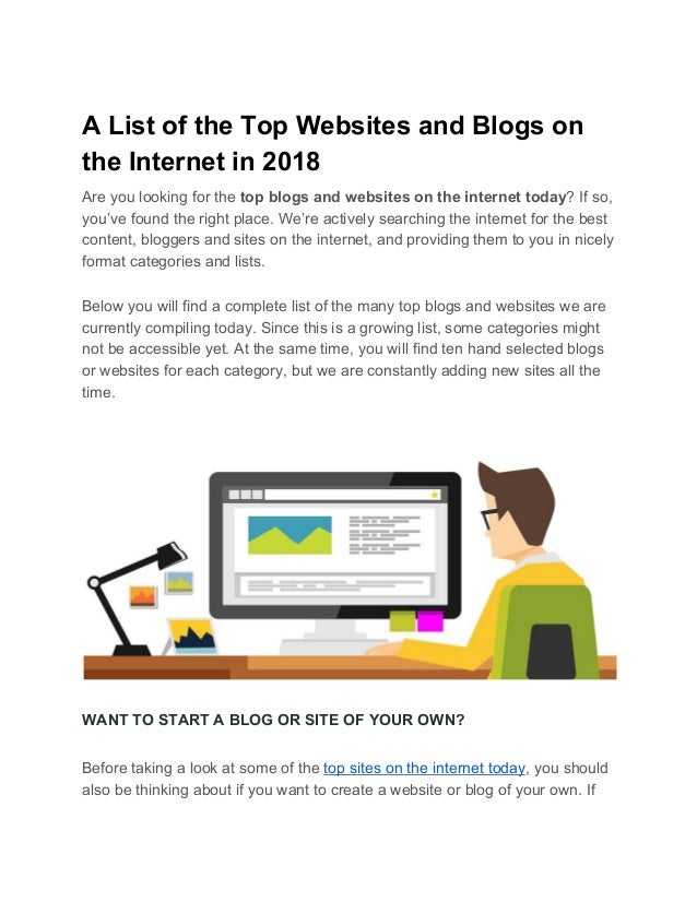 A List of the Top Websites and...