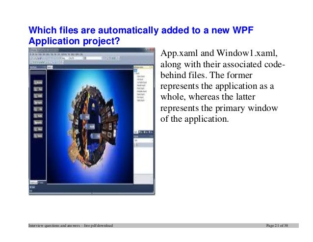 Top 20 wpf interview questions and answers pdf ebook free