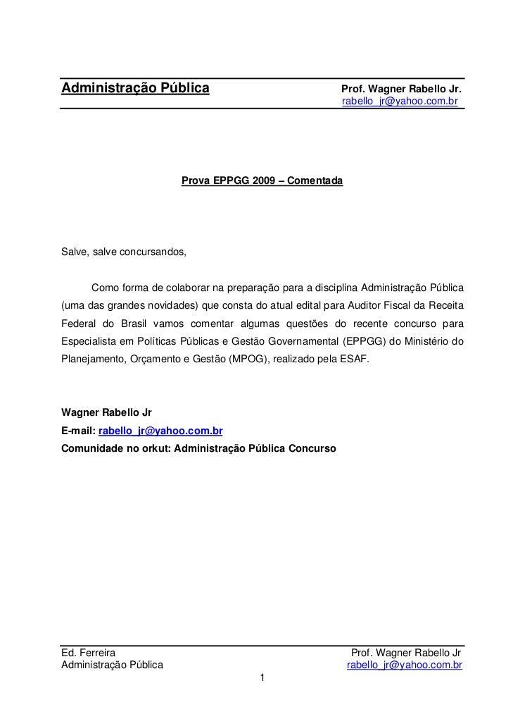 Administração Pública                                      Prof. Wagner Rabello Jr.                                       ...