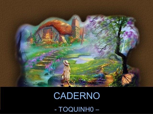 CADERNO  - TOQUINH0 –  Jaime Barboza
