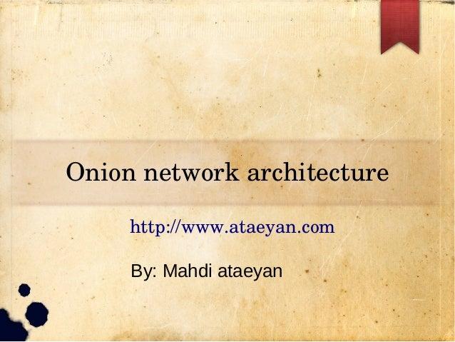 Onionnetworkarchitecture http://www.ataeyan.com By: Mahdi ataeyan