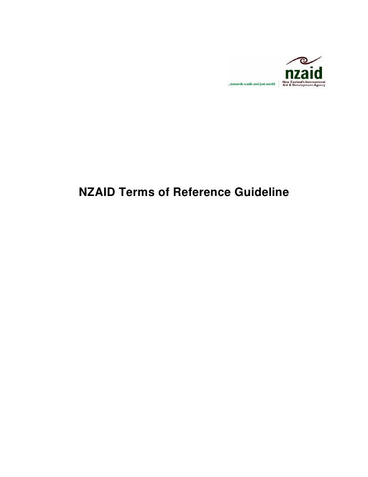 NZAID Terms of Reference Guideline