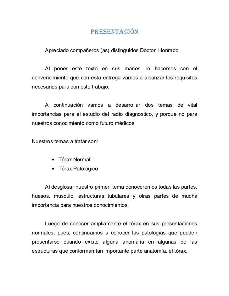 PRESENTACIÓN     Apreciado compañeros (as) distinguidos Doctor Honrado.     Al poner este texto en sus manos, lo hacemos c...