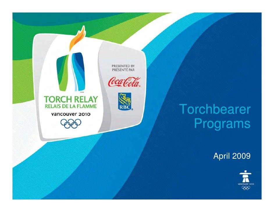 Torchbearer   Programs       April 2009