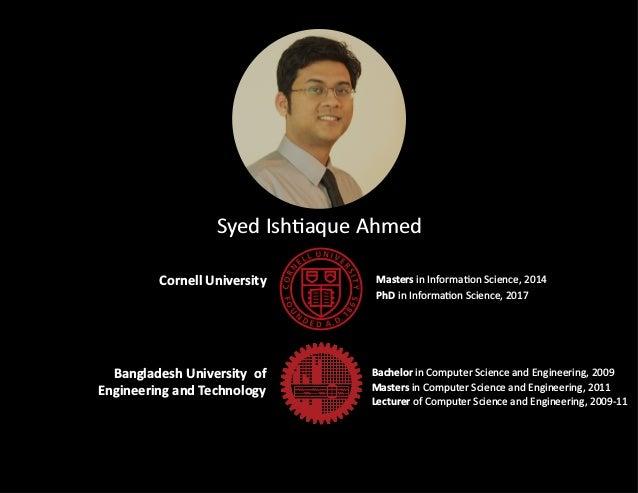 TorCHI World Usability Day Talk by Prof  Syed Ishtiaque Ahmed