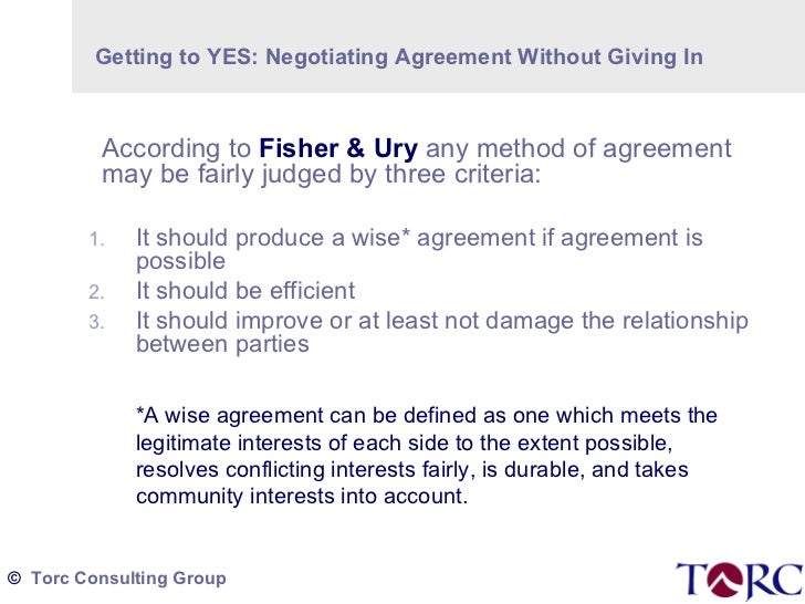 Torc Thumbnail 4 Getting To Yes - Negotiating Agreement