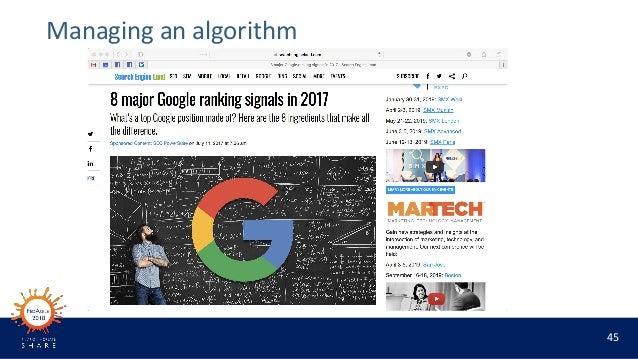 45 Managing an algorithm