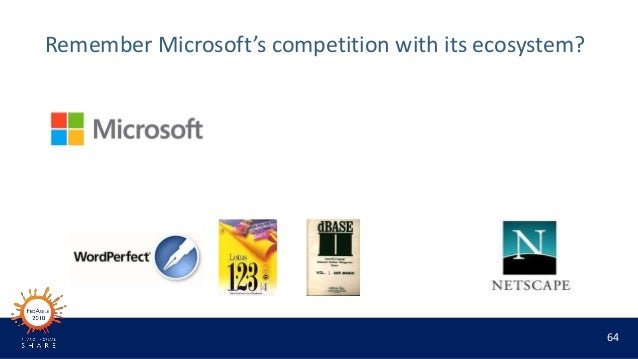 64 Remember Microsoft's competition with its ecosystem?