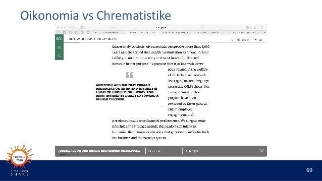 69 Oikonomia vs Chrematistike