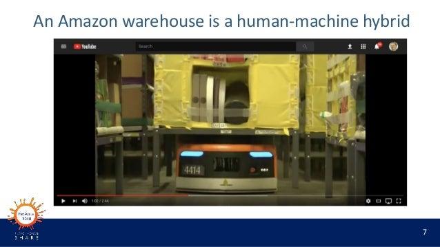 7 An Amazon warehouse is a human-machine hybrid